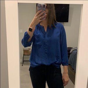 NYDJ blue blouse size medium